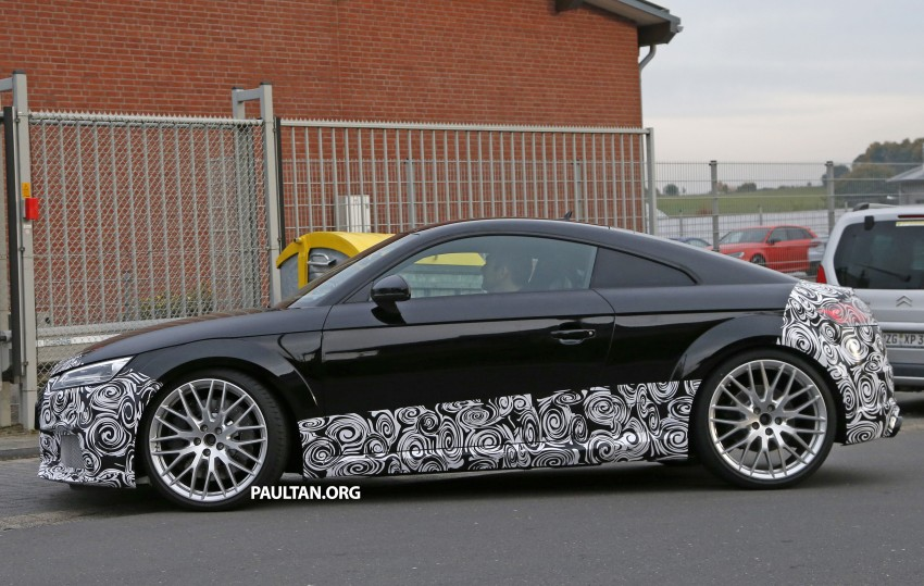 "SPYSHOTS: Audi TT RS gets ""Green Hell"" workout Image #391994"