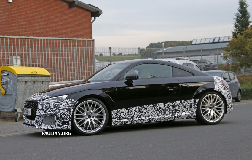 "SPYSHOTS: Audi TT RS gets ""Green Hell"" workout Image #391995"