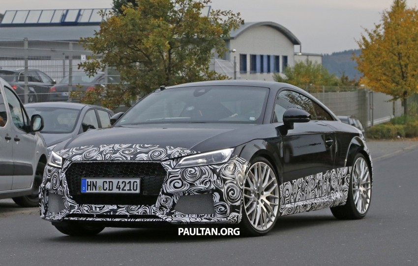 "SPYSHOTS: Audi TT RS gets ""Green Hell"" workout Image #391997"