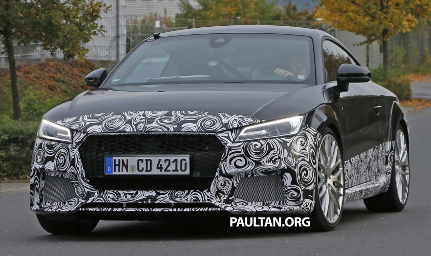 "SPYSHOTS: Audi TT RS gets ""Green Hell"" workout Image #391998"