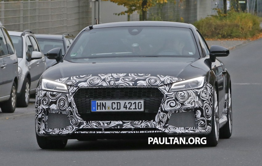 "SPYSHOTS: Audi TT RS gets ""Green Hell"" workout Image #391999"