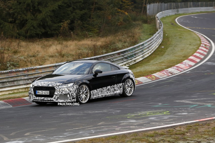 "SPYSHOTS: Audi TT RS gets ""Green Hell"" workout Image #392005"