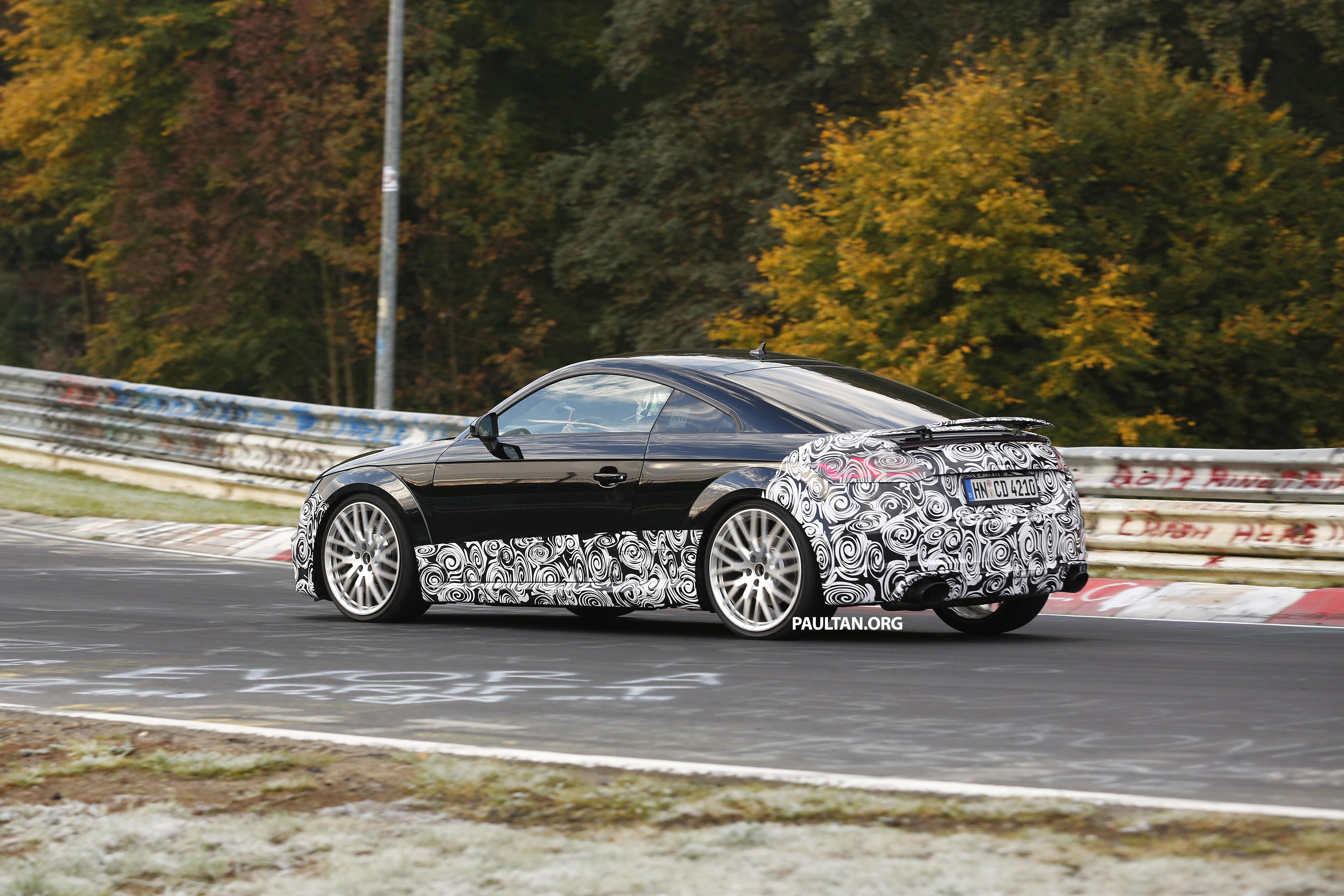 Spyshots Audi Tt Rs Gets Green Hell Workout Paul Tan