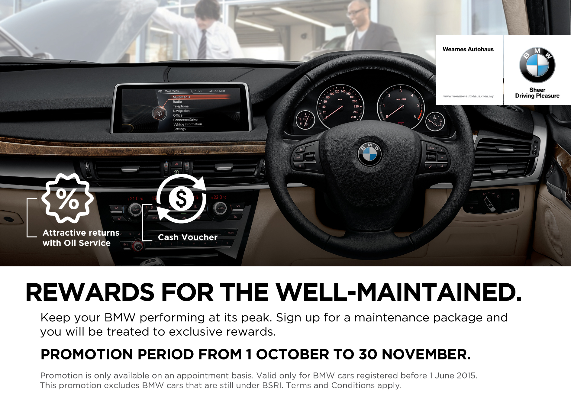 AD Enjoy special offers and rewards when you service your BMW at