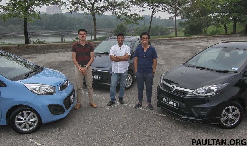 Driven Web Series 2015 #4: Malaysia's cheapest cars – Perodua Axia 1.0 vs Proton Iriz 1.3 vs Kia Picanto 1.2 Image #399235