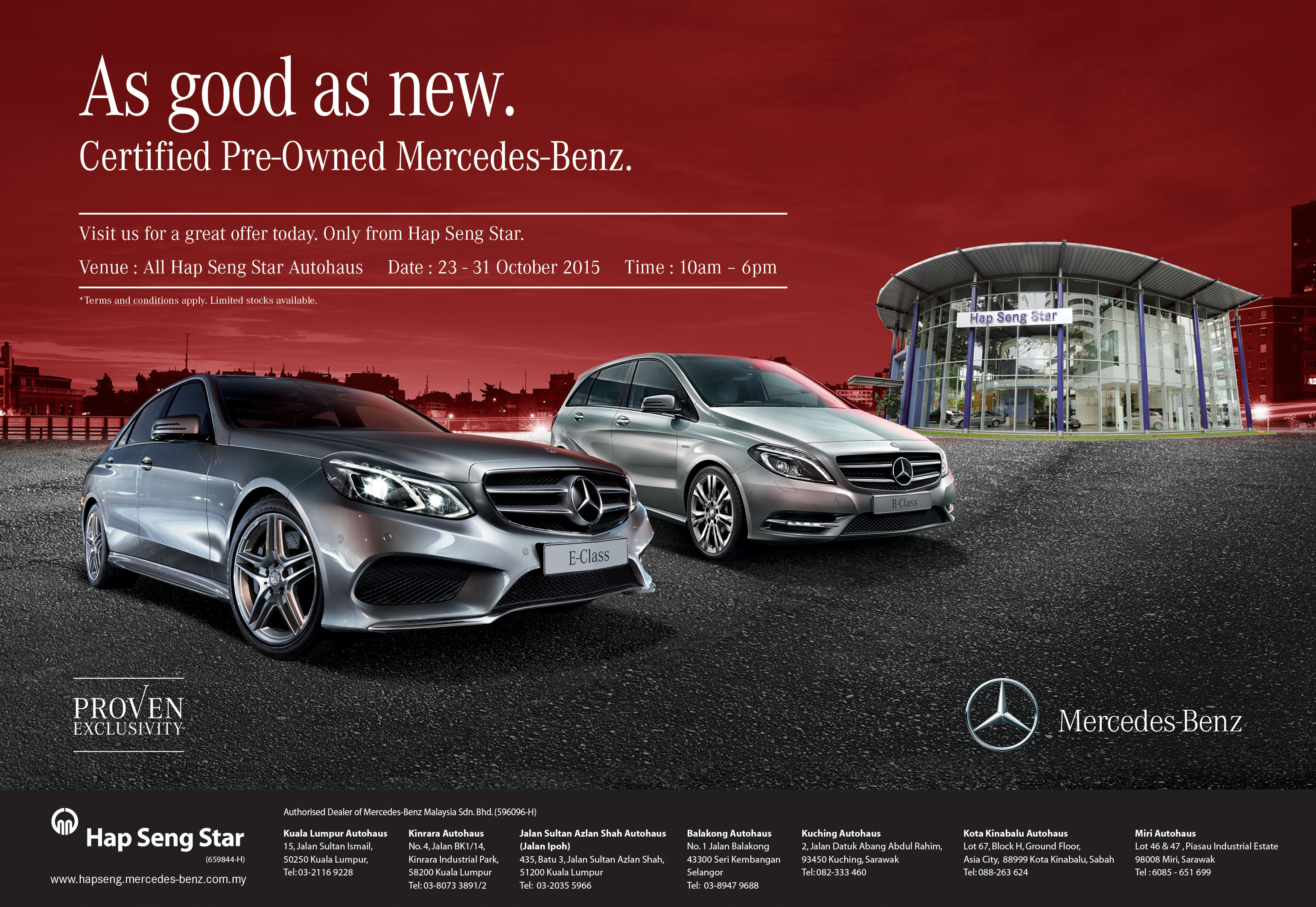 Ad Enjoy Attractive Prices On Mercedes Benz Models With Hap Seng Star S Pre Owned Campaign This