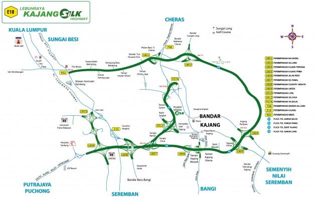 Kajang SILK map