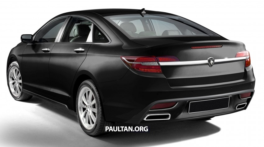 RENDERED: 2016 Proton Perdana in eight colours Image #392680