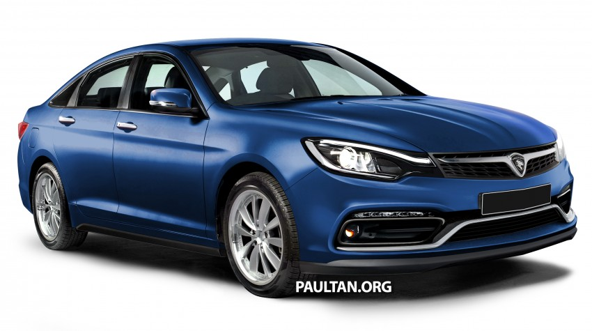 RENDERED: 2016 Proton Perdana in eight colours Image #392682