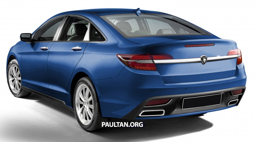 RENDERED: 2016 Proton Perdana in eight colours Image #392683