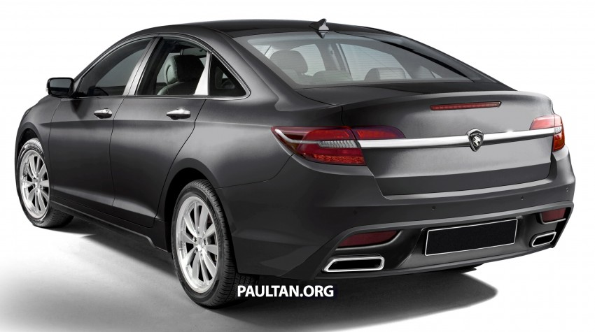 RENDERED: 2016 Proton Perdana in eight colours Image #392688
