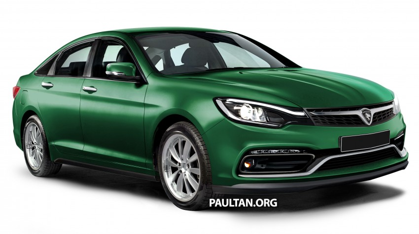 RENDERED: 2016 Proton Perdana in eight colours Image #392691
