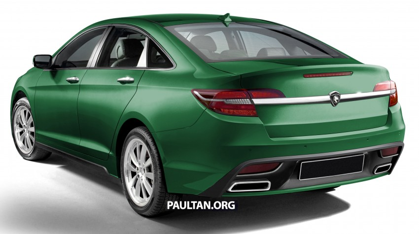 RENDERED: 2016 Proton Perdana in eight colours Image #392692