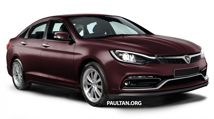 RENDERED: 2016 Proton Perdana in eight colours Image #392693