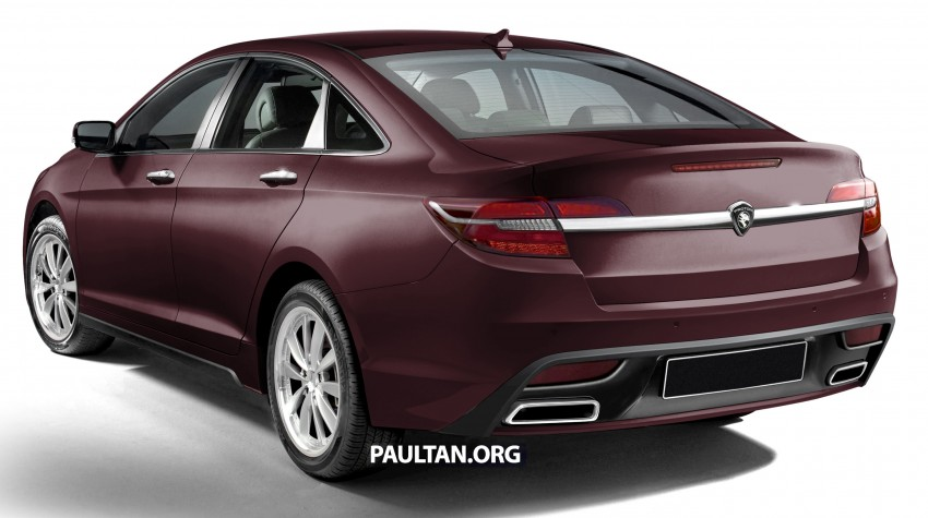 RENDERED: 2016 Proton Perdana in eight colours Image #392694