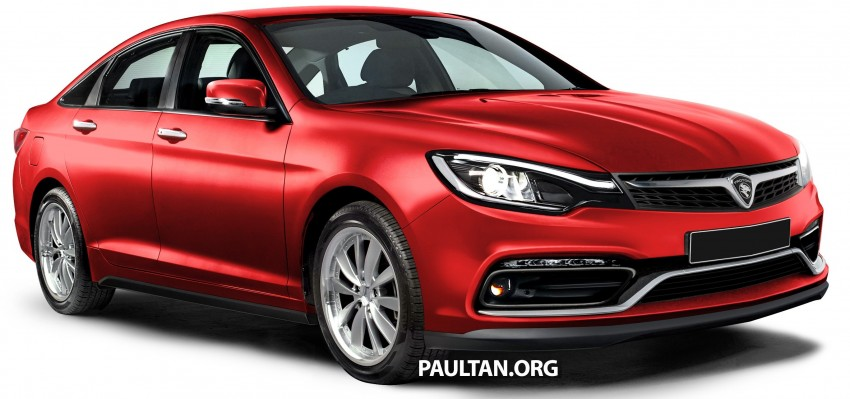 RENDERED: 2016 Proton Perdana in eight colours Image #392695
