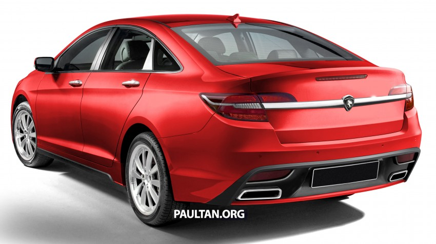 RENDERED: 2016 Proton Perdana in eight colours Image #392696