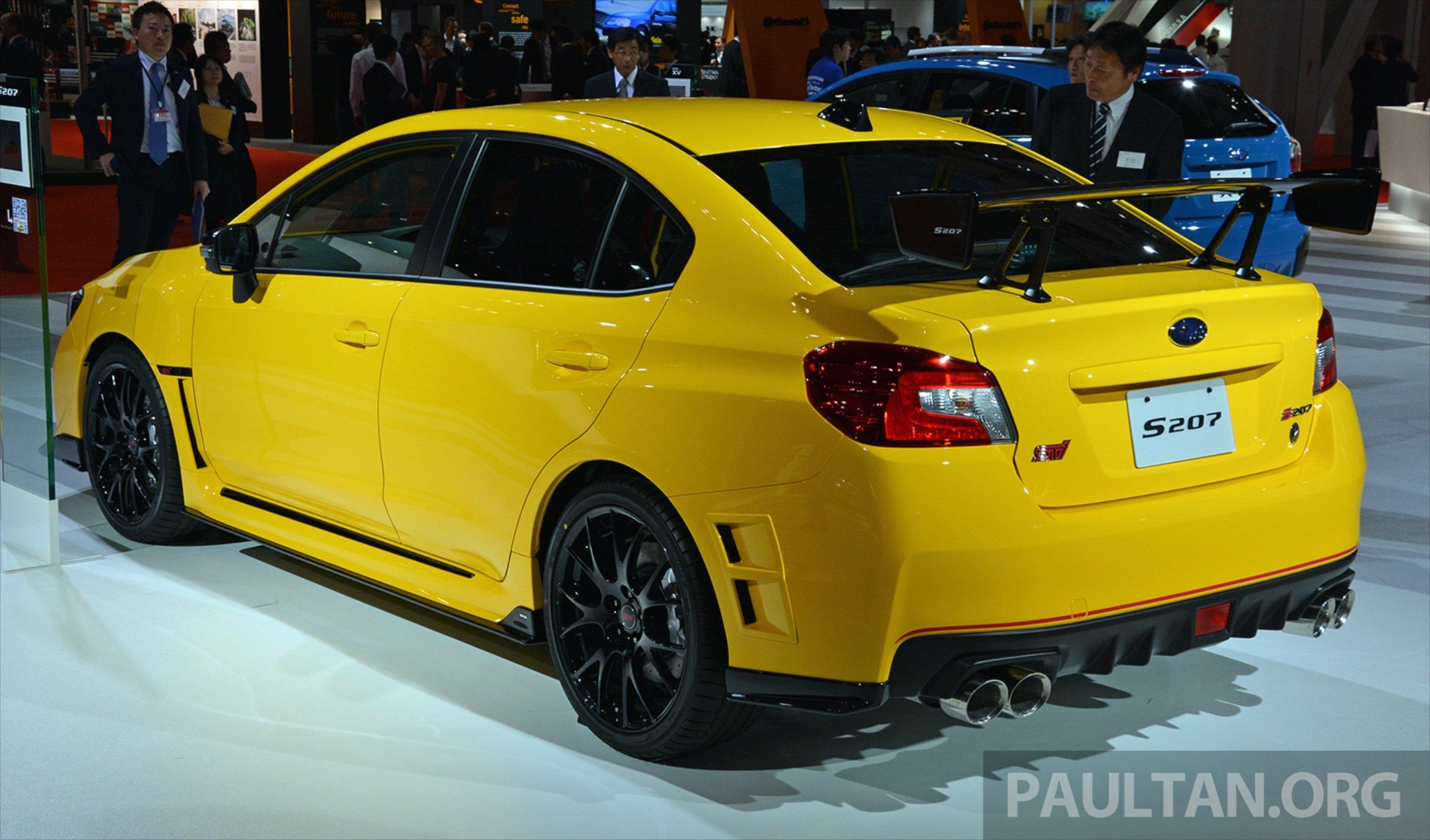 Tokyo 2015: Subaru WRX STI S207 unveiled for Japan Image ...