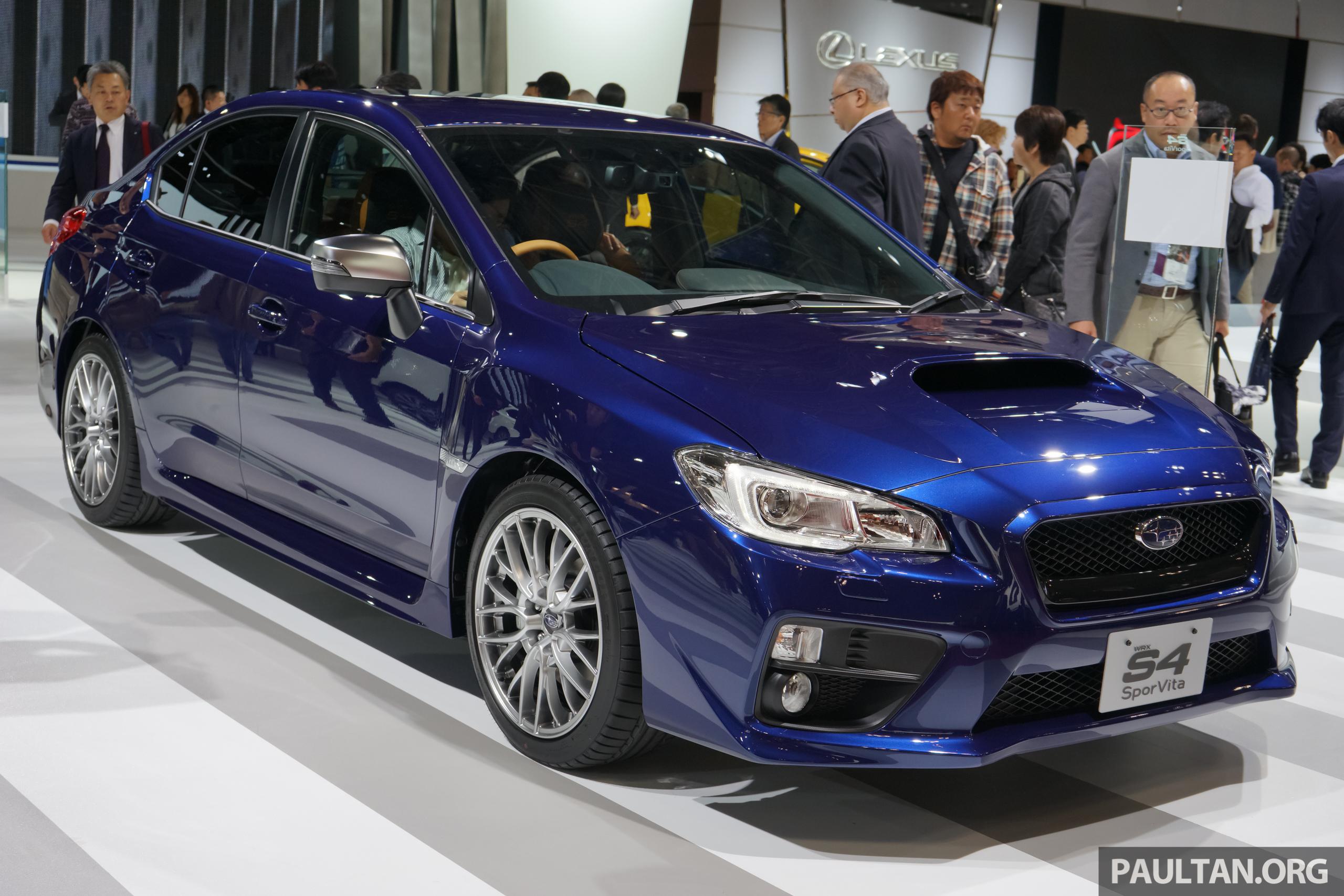 Tokyo 2015 Subaru Wrx S4 Sporvita Revealed Image 400024