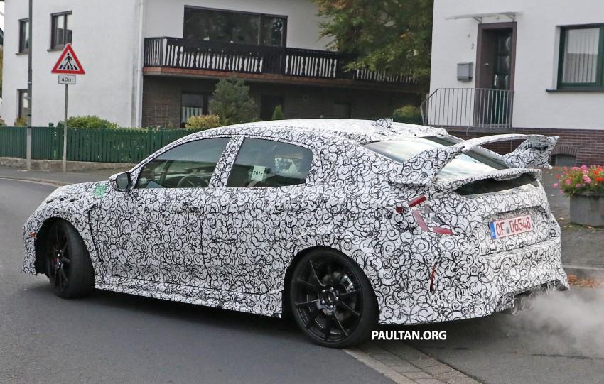 SPIED: Next-gen Honda Civic Type R 5-door hatchback Image #392141