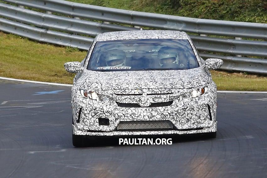 SPIED: Next-gen Honda Civic Type R 5-door hatchback Image #392143