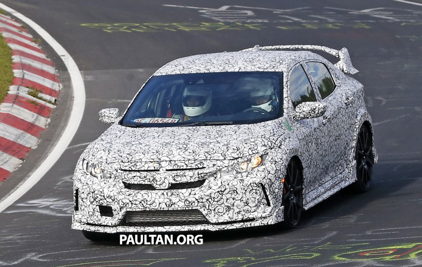 SPIED: Next-gen Honda Civic Type R 5-door hatchback Image #392129