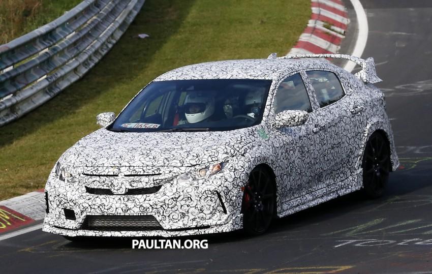 SPIED: Next-gen Honda Civic Type R 5-door hatchback Image #392130