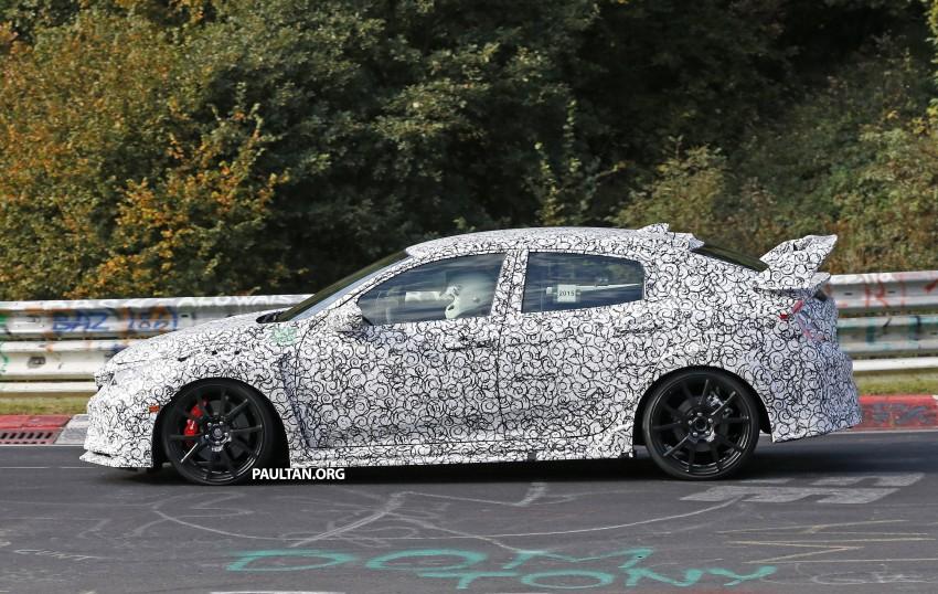 SPIED: Next-gen Honda Civic Type R 5-door hatchback Image #392133