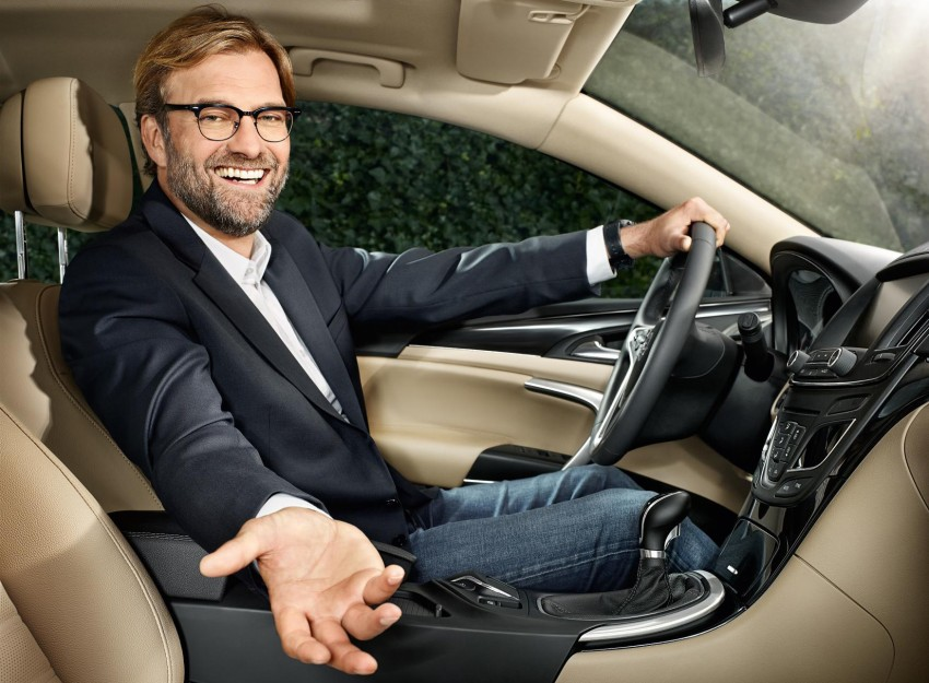 Opel ambassador Jürgen Klopp to continue driving Insignia at LFC, but will have to get used to RHD Image #390892
