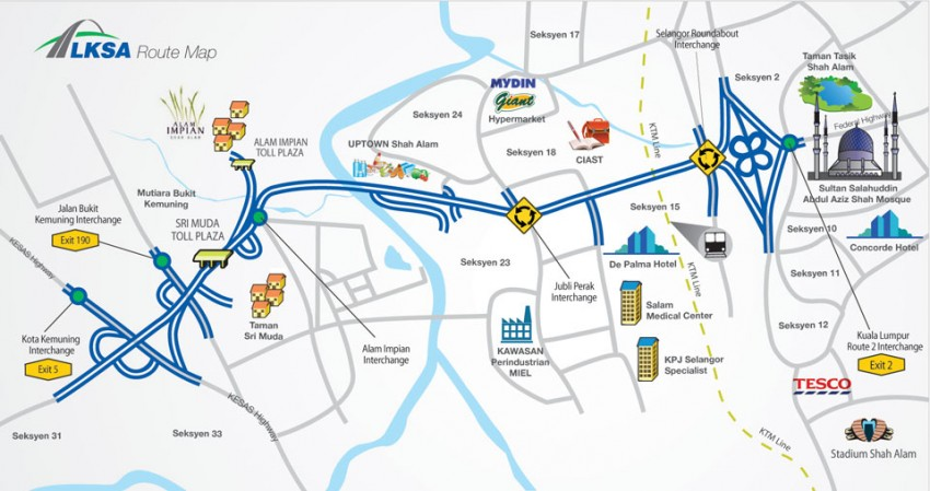 LKSA Kemuning-Shah Alam toll fare up by 30 to 50 sen Image #391160