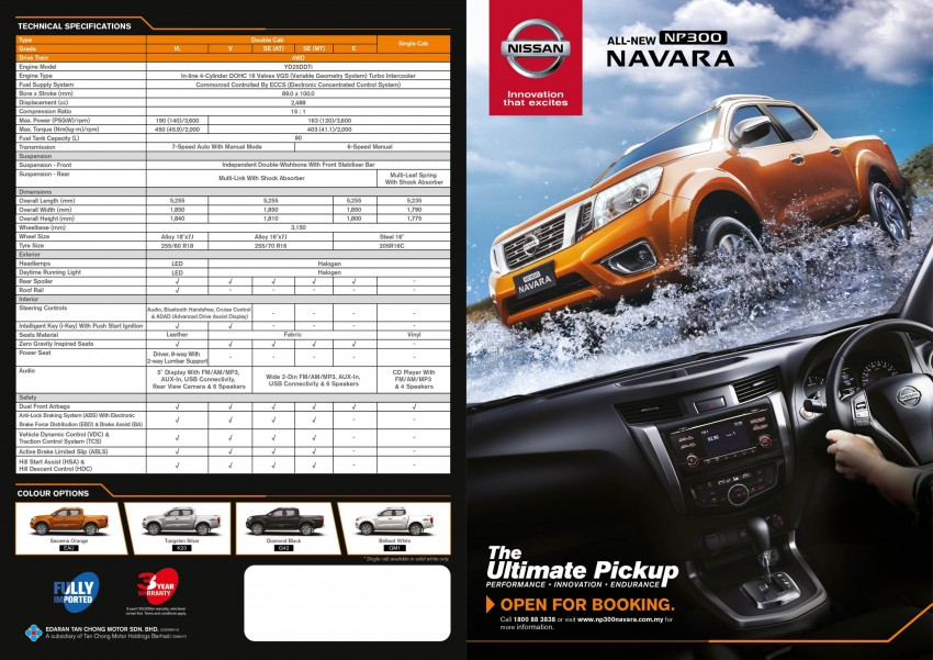 Nissan NP300 Navara order books now open – six variants offered, estimated prices from RM85k Image #391874