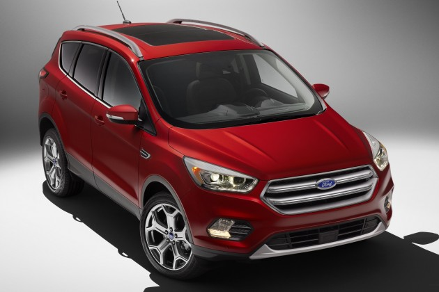 is the facelifted Ford Kuga (seen here wearing US-market Ford Escape ...