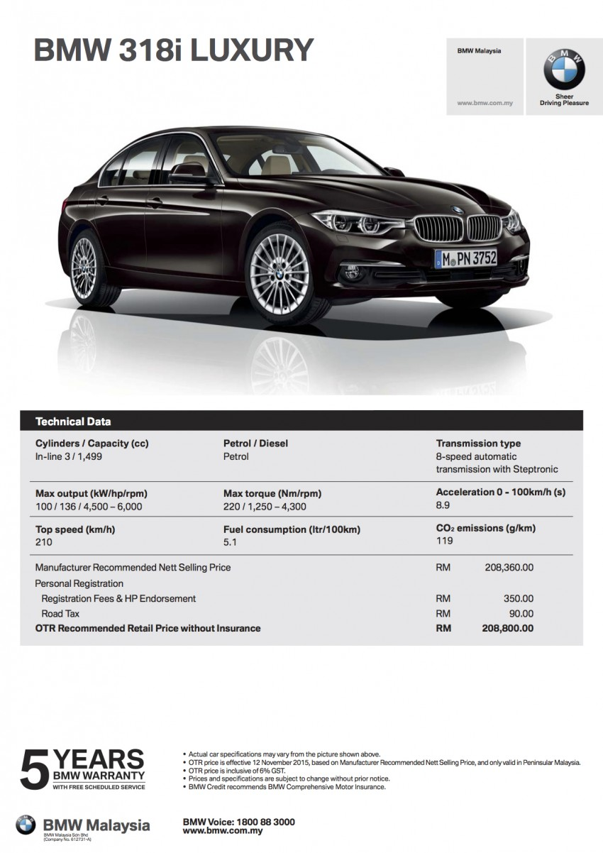 F30 BMW 3 Series LCI launched in Malaysia – 3-cyl 318i, 320i, 320d and 330i from RM209k to RM309k Image #407309
