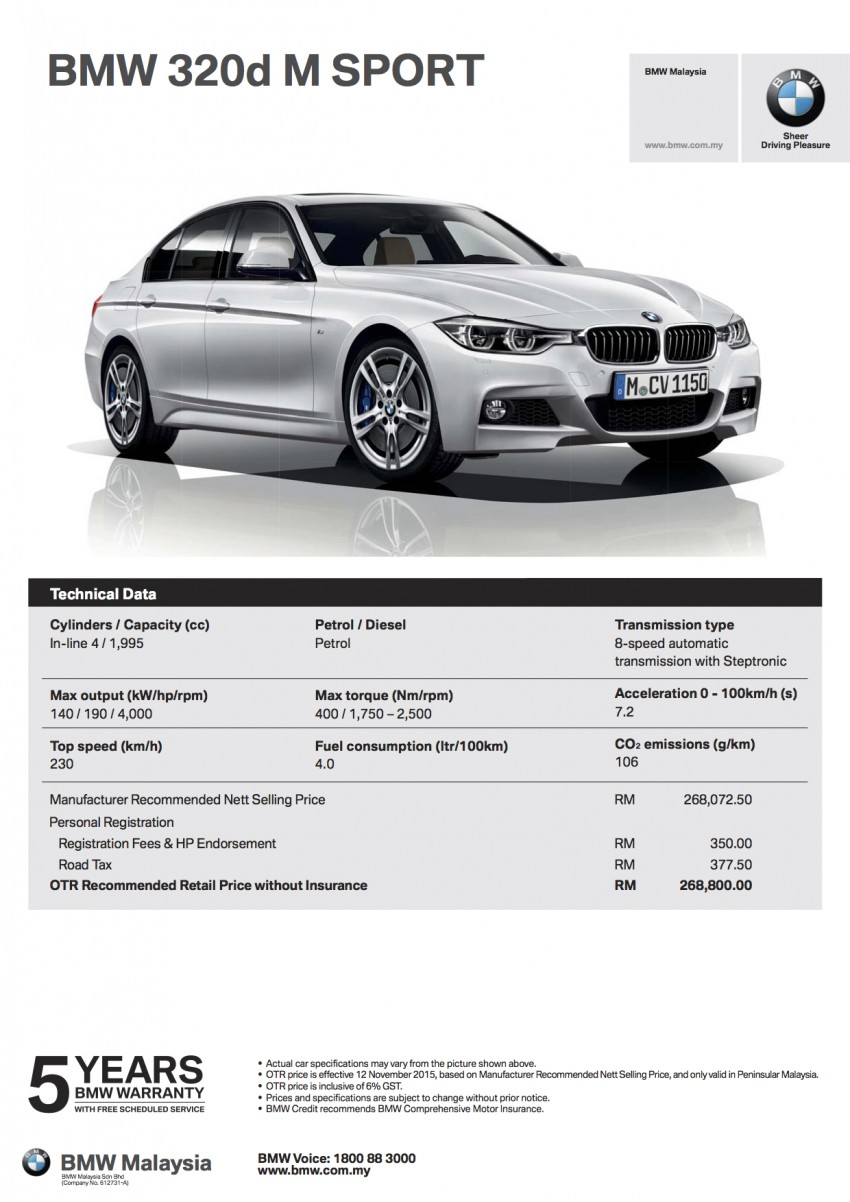 F30 BMW 3 Series LCI launched in Malaysia – 3-cyl 318i, 320i, 320d and 330i from RM209k to RM309k Image #407308
