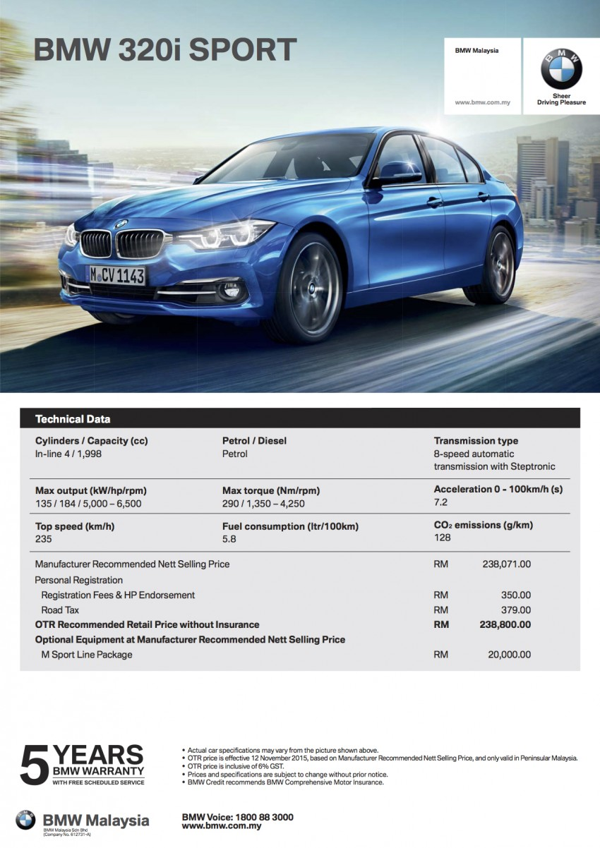 F30 BMW 3 Series LCI launched in Malaysia – 3-cyl 318i, 320i, 320d and 330i from RM209k to RM309k Image #407305