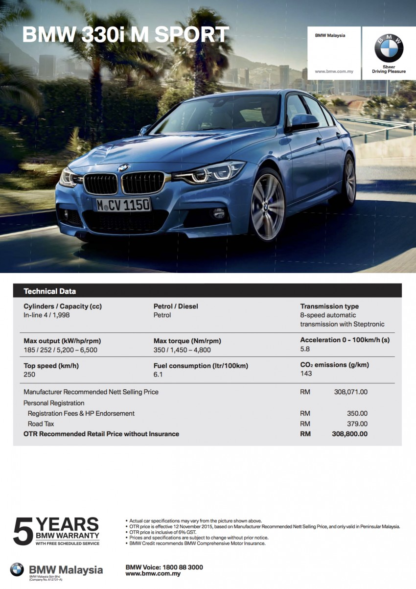 F30 BMW 3 Series LCI launched in Malaysia – 3-cyl 318i, 320i, 320d and 330i from RM209k to RM309k Image #407306