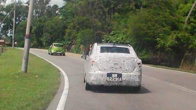 SPIED: Proton Persona replacement, Iriz sedan on test Image #406341