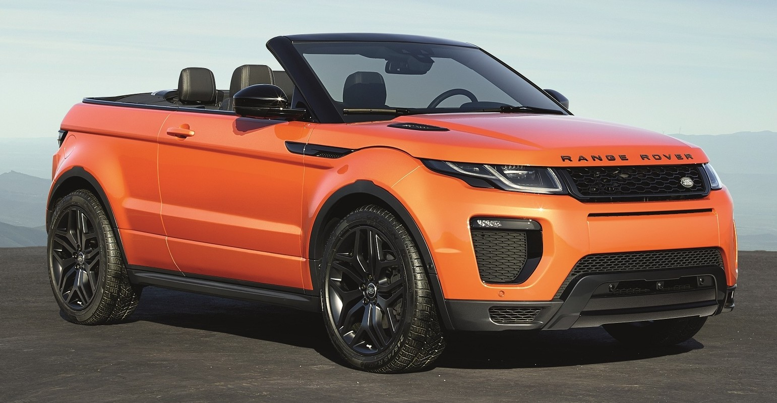 range rover evoque convertible officially revealed. Black Bedroom Furniture Sets. Home Design Ideas