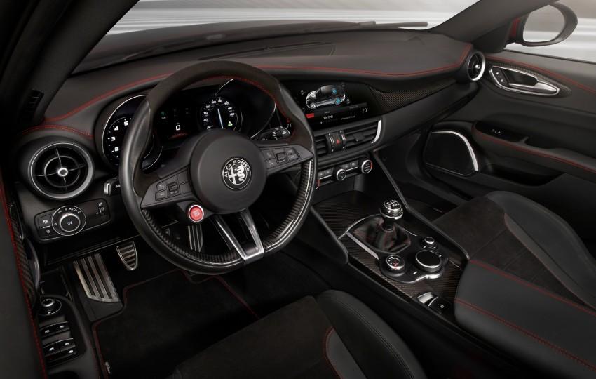 2017 Alfa Romeo Giulia Quadrifoglio fully detailed, 505 hp/600 Nm sedan set to make US debut in Q2 2016 Image #409132