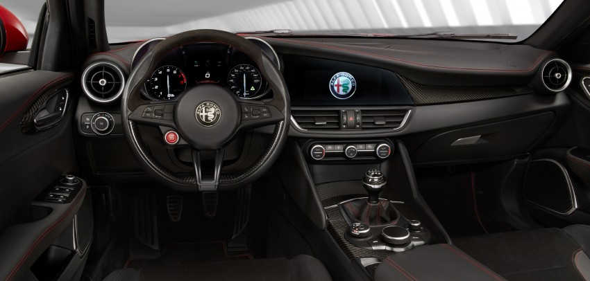 2017 Alfa Romeo Giulia Quadrifoglio fully detailed, 505 hp/600 Nm sedan set to make US debut in Q2 2016 Image #409134