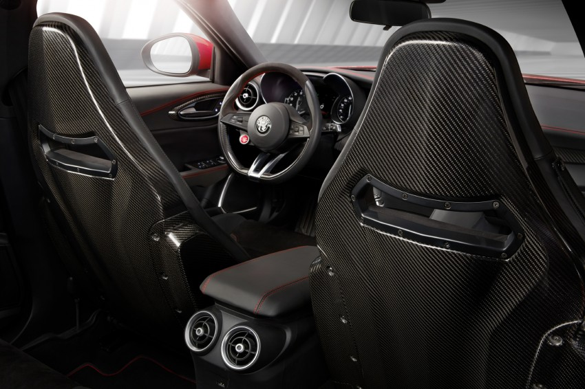 2017 Alfa Romeo Giulia Quadrifoglio fully detailed, 505 hp/600 Nm sedan set to make US debut in Q2 2016 Image #409119