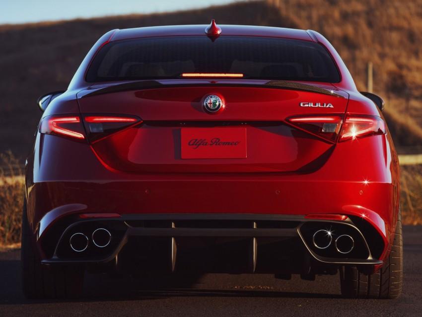 2017 Alfa Romeo Giulia Quadrifoglio fully detailed, 505 hp/600 Nm sedan set to make US debut in Q2 2016 Image #409162