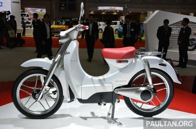 Honda Super Cub Concept and EV-Cub Concept TMS-10