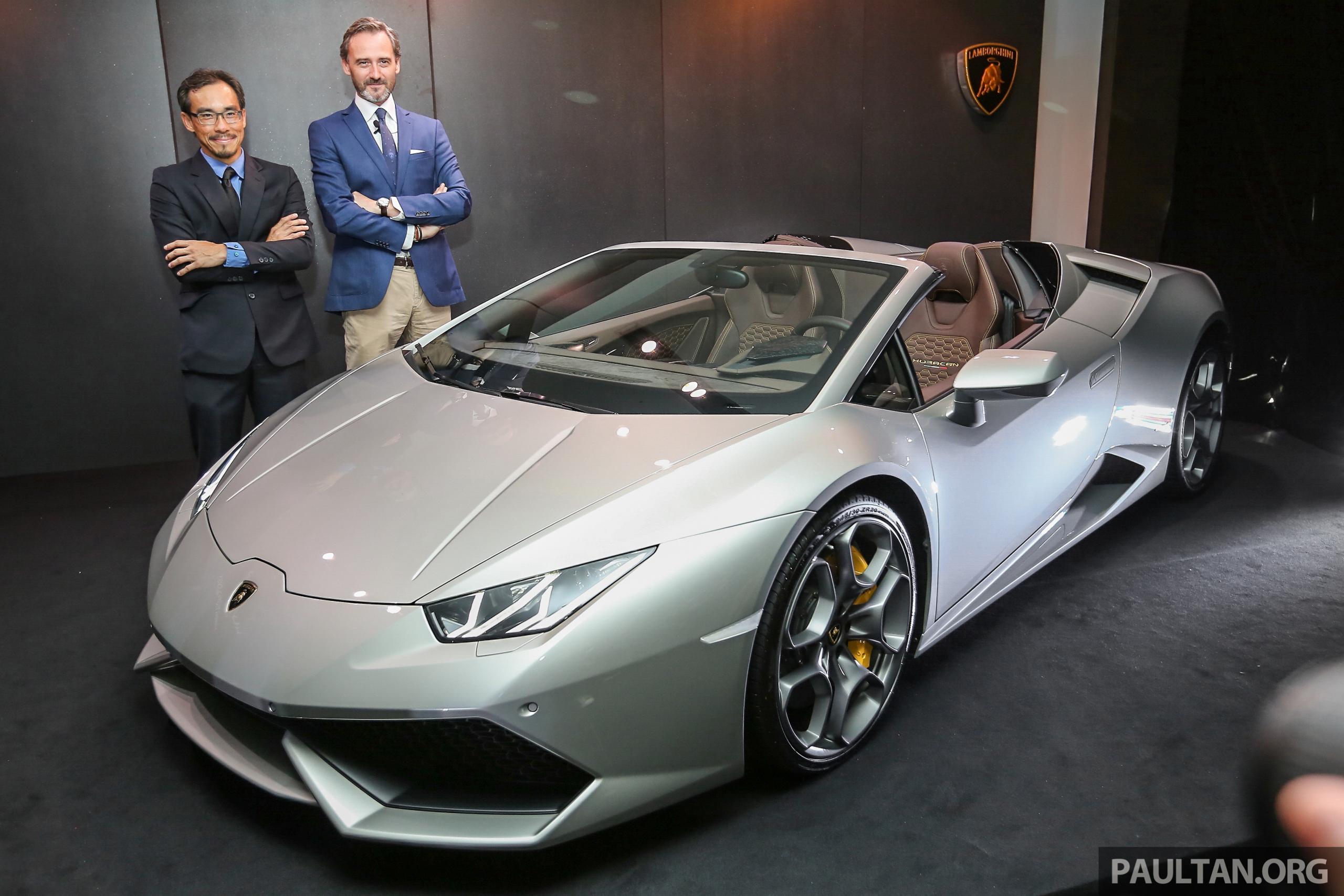 Lamborghini Huracan Spyder Now In M Sia Fr Rm1 35m Paul