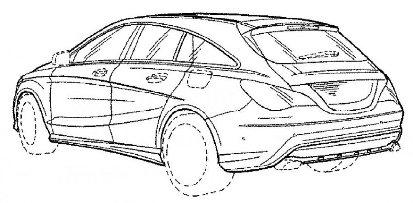 Mercedes-Benz CLA Shooting Brake facelift revealed in patent drawings – minor changes expected Image #412896