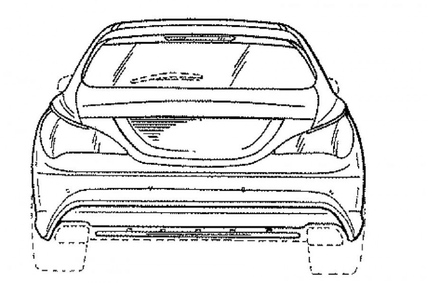 Mercedes-Benz CLA Shooting Brake facelift revealed in patent drawings – minor changes expected Image #412897