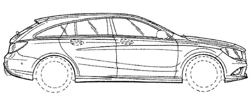 Mercedes-Benz CLA Shooting Brake facelift revealed in patent drawings – minor changes expected Image #412904