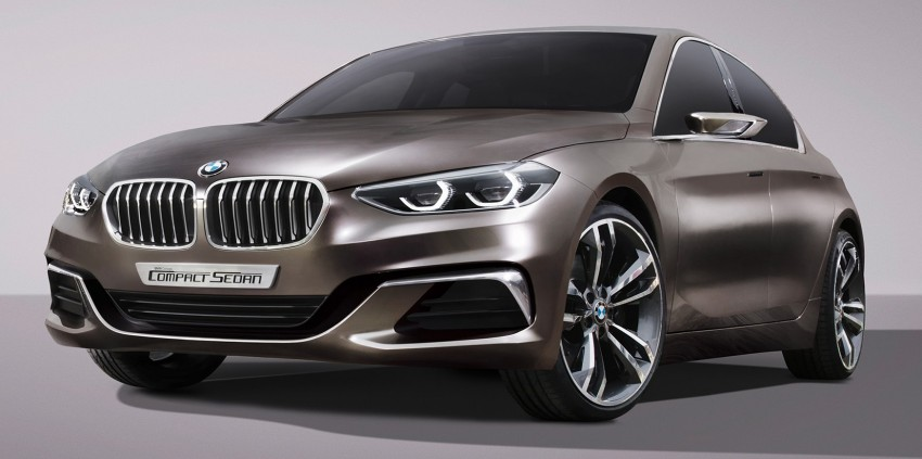 BMW Concept Compact Sedan previews FWD sedan Image #410531