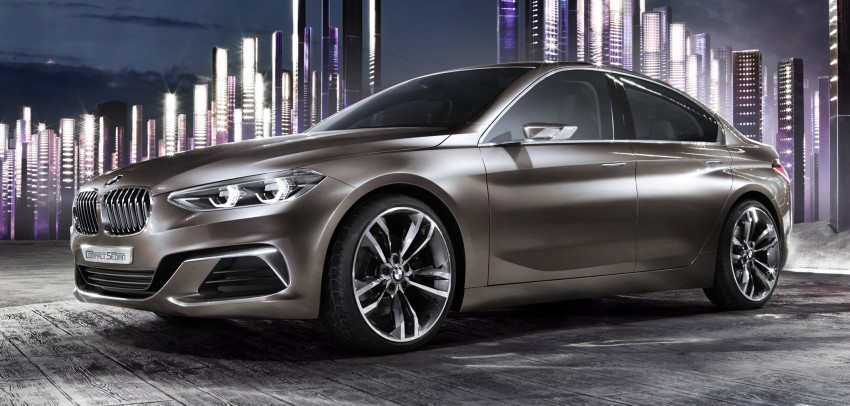 BMW Concept Compact Sedan previews FWD sedan Image #410525