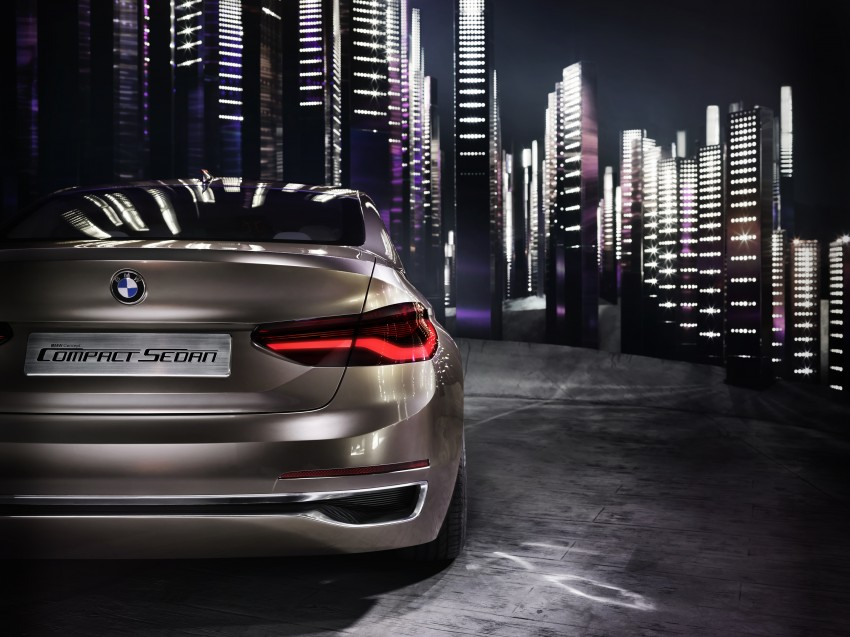 BMW Concept Compact Sedan previews FWD sedan Image #410526